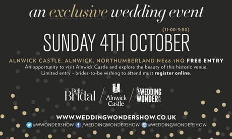 A Very Exclusive Wedding Event at Alnwick Castle