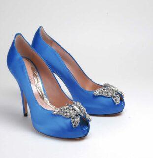 Stunning Royal Blue Shoes by Aruna Seth