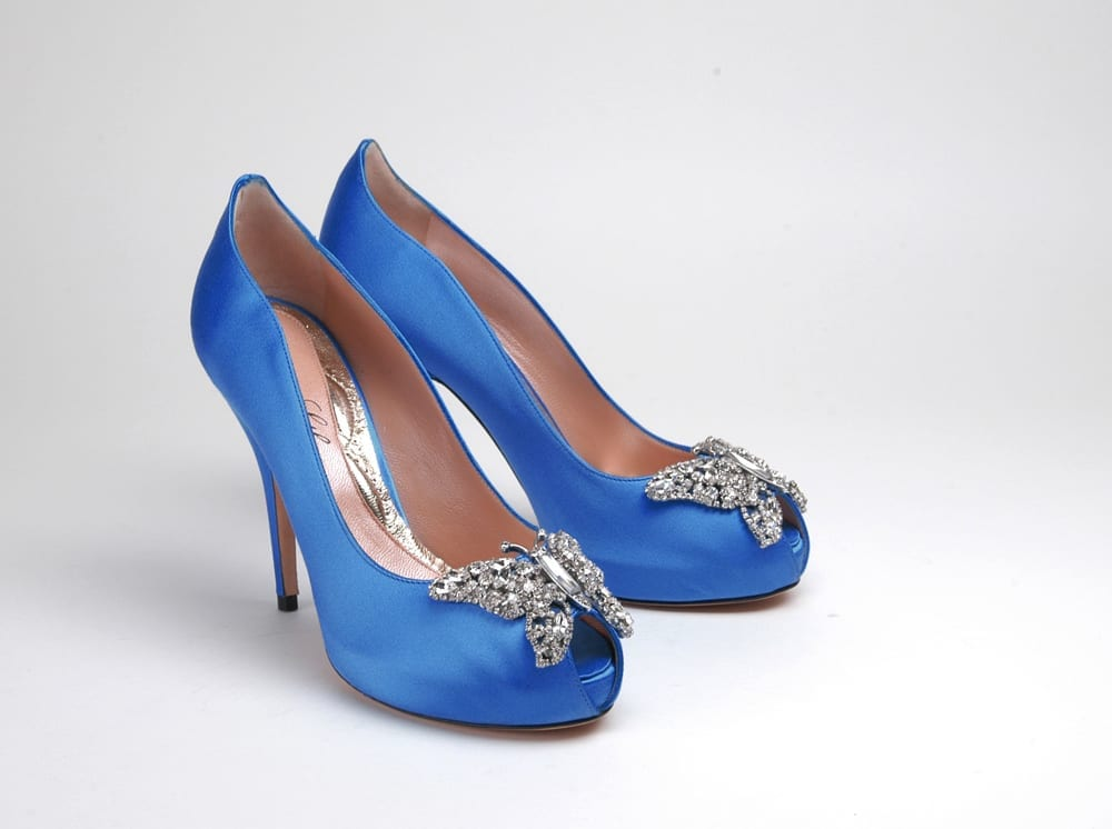 Stunning Royal Blue Shoes by Aruna Seth - Belle Bridal Magazine