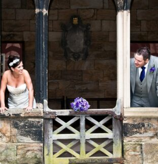 A romantic religious ceremony at Durham Cathedral for Mark and Gillian Jopling