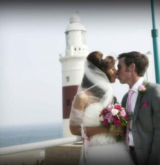 Gibraltar: A Pretty Pink Wedding For Dorothy and Paul
