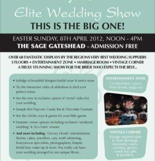 Sage Gateshead Wedding Fair Sunday 8th April 2012