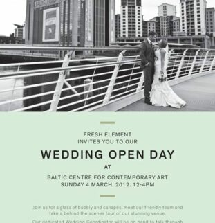 BALTIC Wedding Open Day - Sunday 4th March 2012