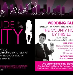 Bride in the City comes to the County Hotel by Thistle in Newcastle, Sunday 11th March 2012