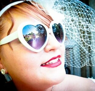 Heart-Shaped Glasses - This Is One Cool Bride