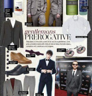 The Gentleman Groom inspiration from Belle Bridal Magazine