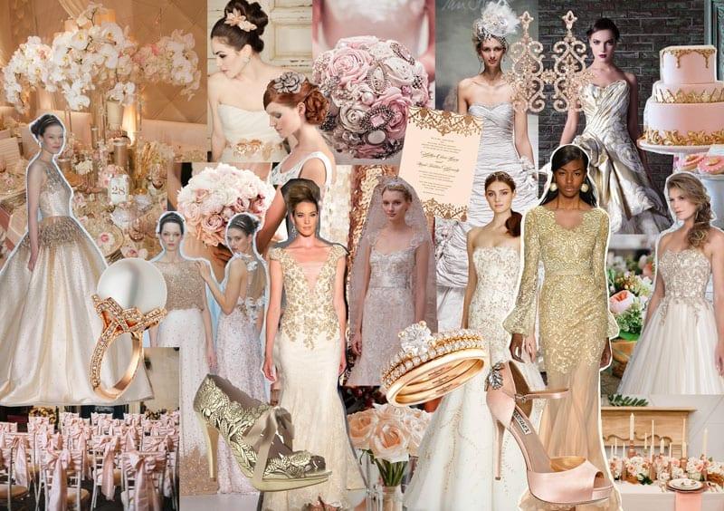 The Gilded Rose: Rose Gold Wedding Inspiration for 2014