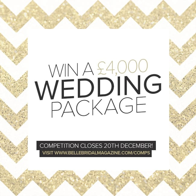 Win £4,000 Wedding Package with Belle Bridal Magazine