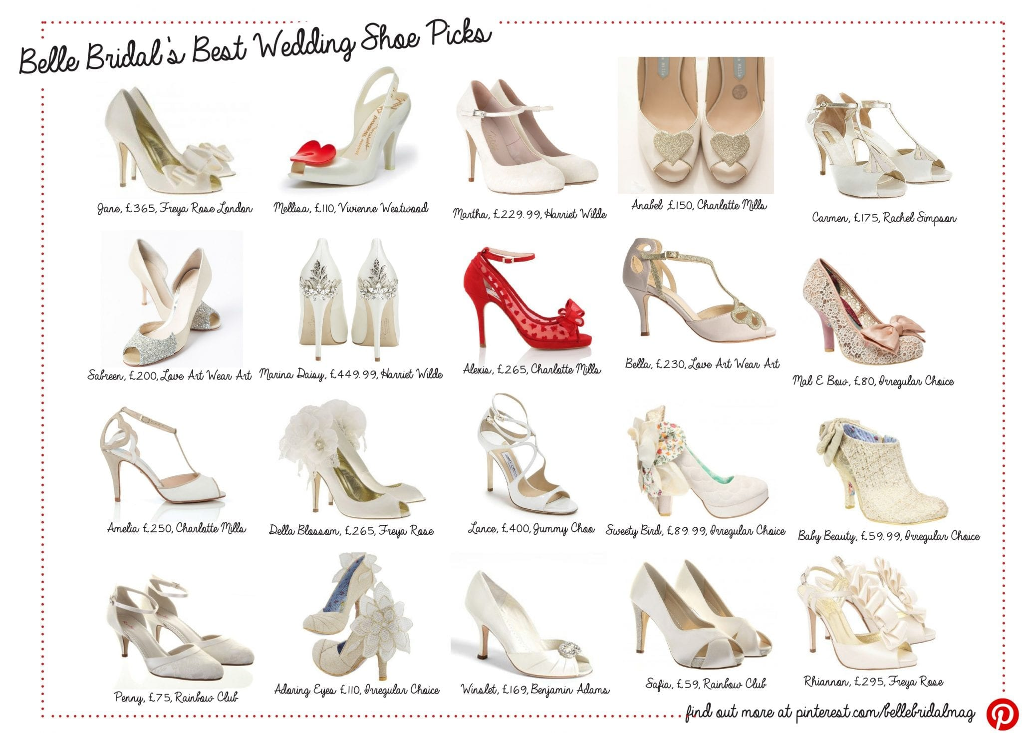 958855f570b9 Shoe Parade! The Best Bridal Shoes for 2015 - As Seen at The Wedding Wonder  Show - Belle Bridal Magazine