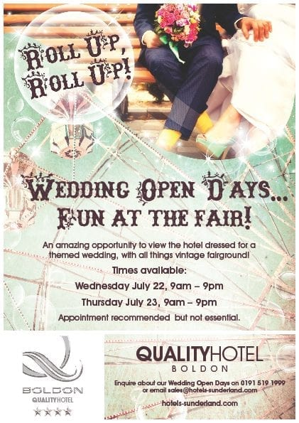 Quality Hotel Boldon Wedding Open Days