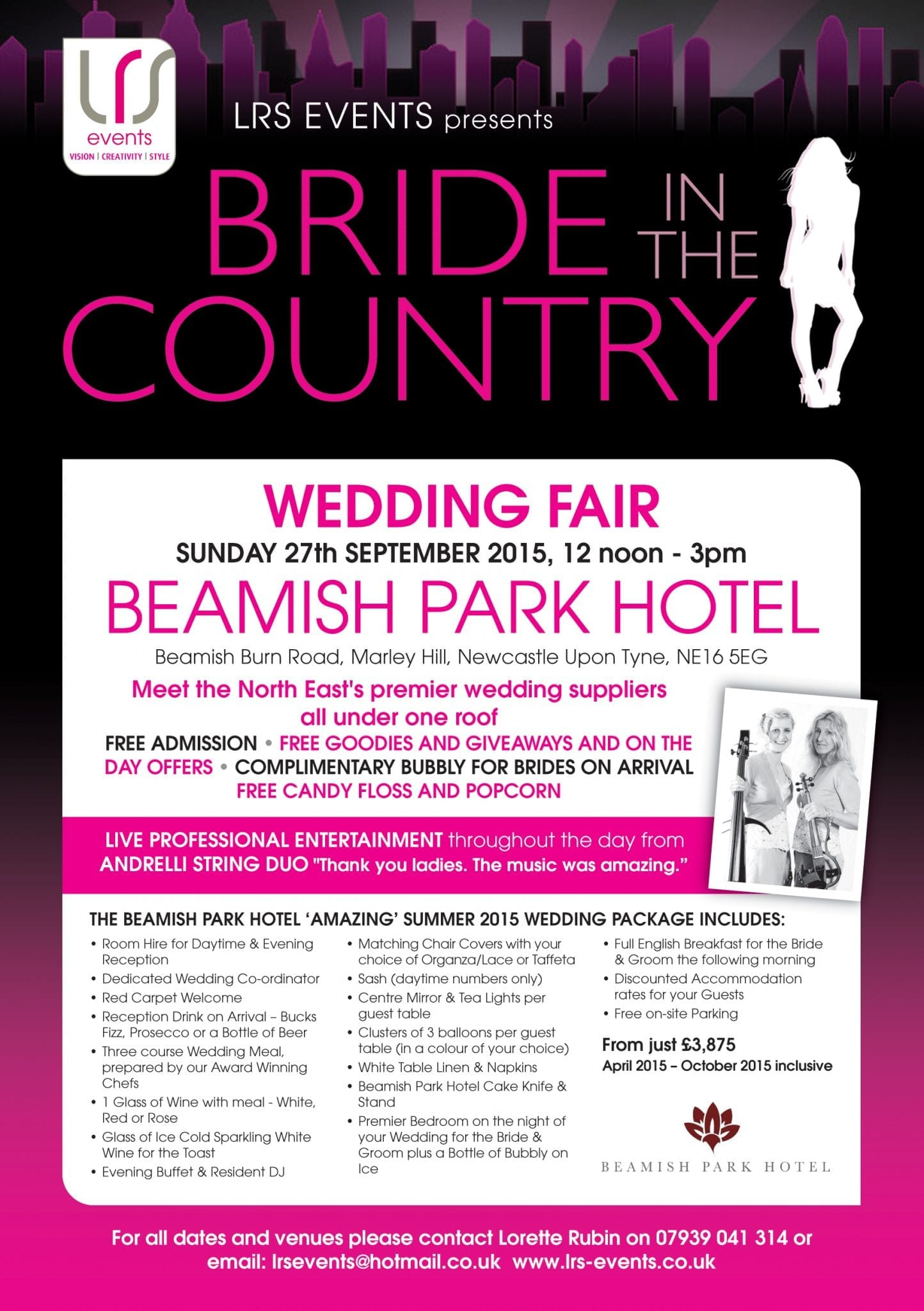 Bride in the Country Wedding Fair at Beamish Park Hotel