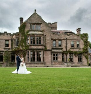 Navy Hues And Pink Blooms At Ellingham Hall