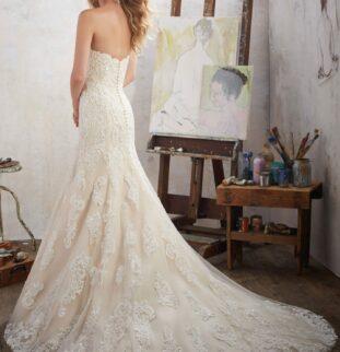 Choosing a wedding dress train