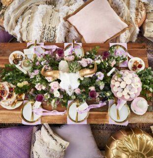 Wedding Styling Shoot: Bohemian Lavender Love