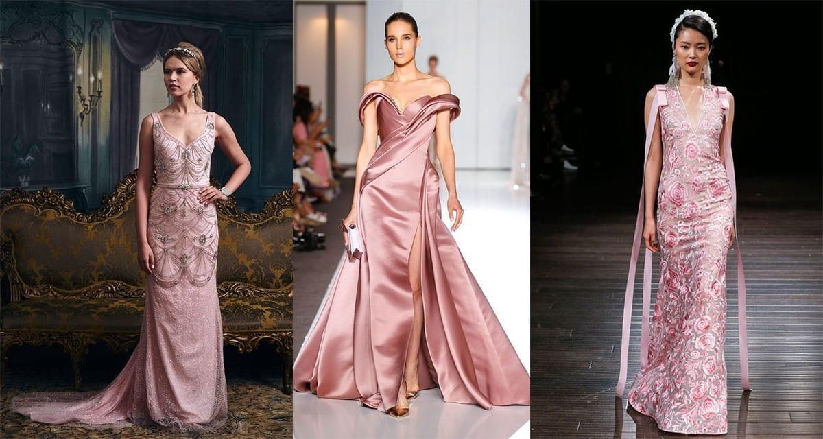 Valentines Inspired Pink Wedding Dresses