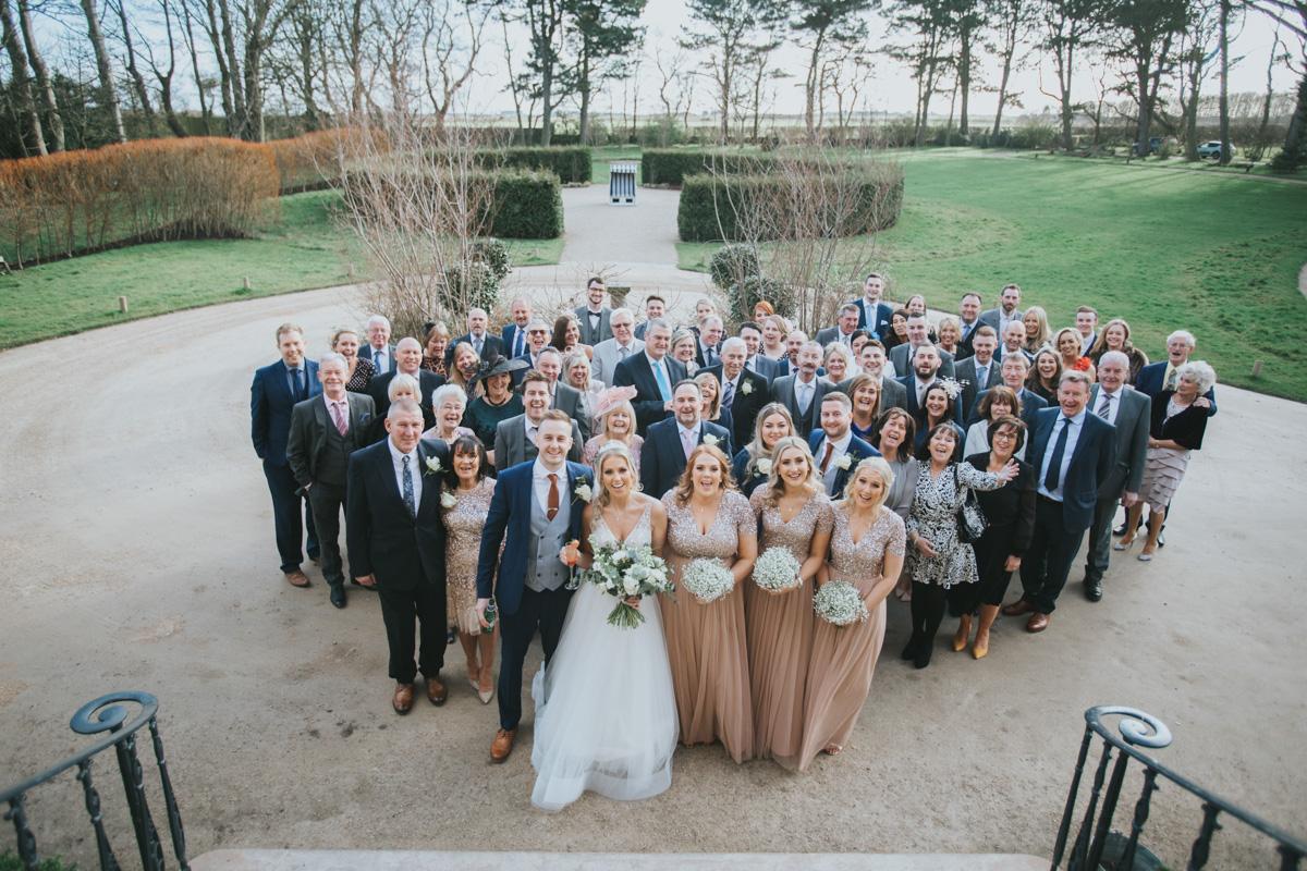Newton Hall: Jess and Andy's Winter Wonderland Wedding