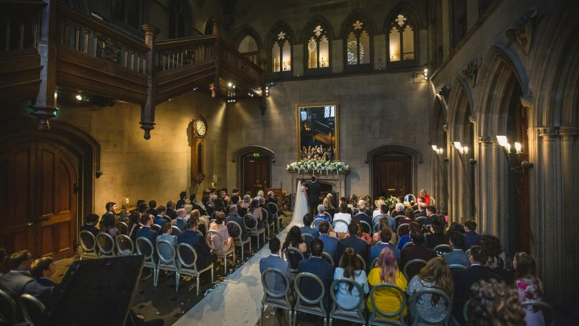 The Ceremony at Matfen Hall, Image by Stan Seaton Photography