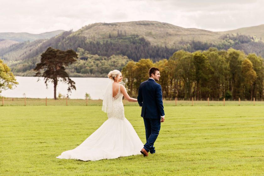 The Bride and Groom at Armathwaite Hall, Photographed by Camilla Lucinda Photography
