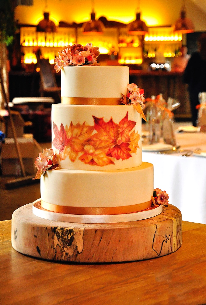 Autumnal hand painted wedding 2 no logo