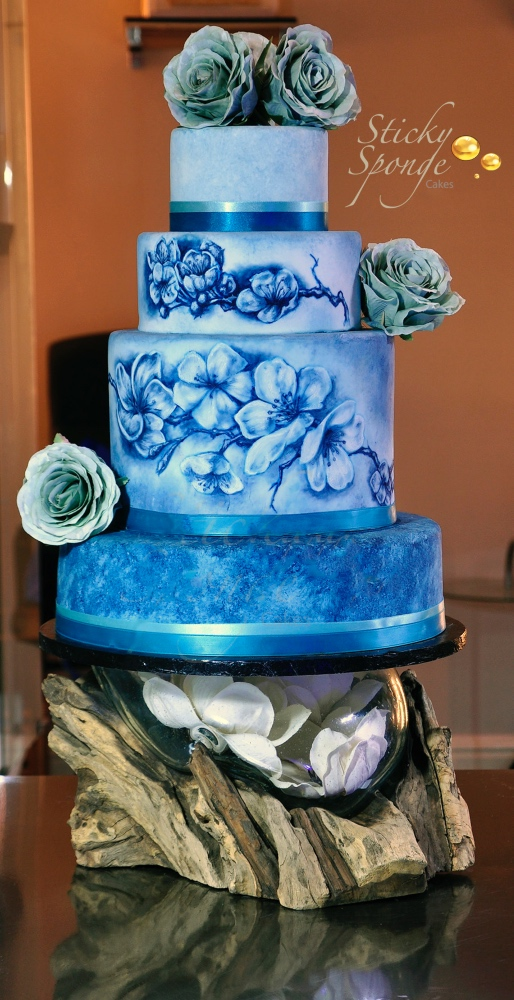 Blossom Hand Painted Cake 2
