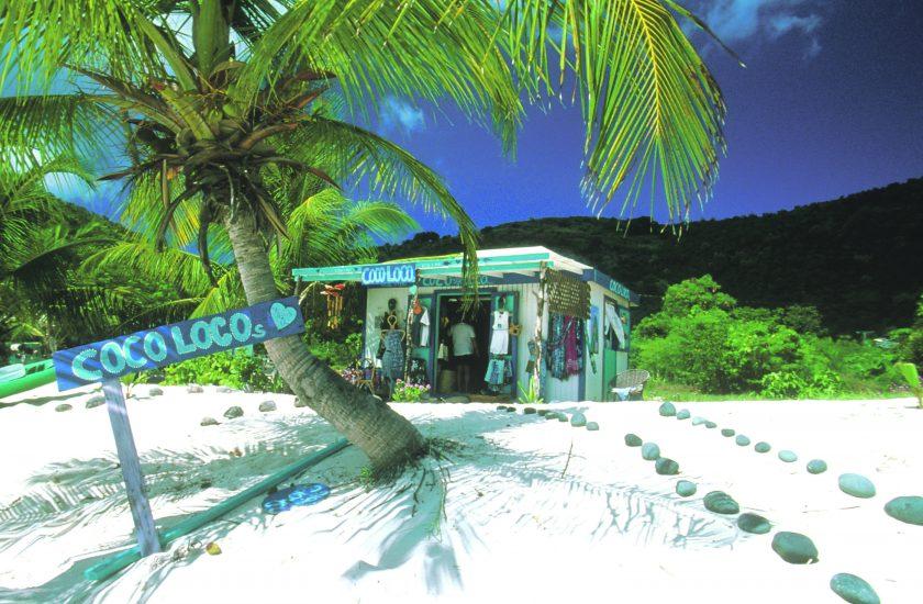 Jost Van Dyke - Coco Loco beach bar. White Bay