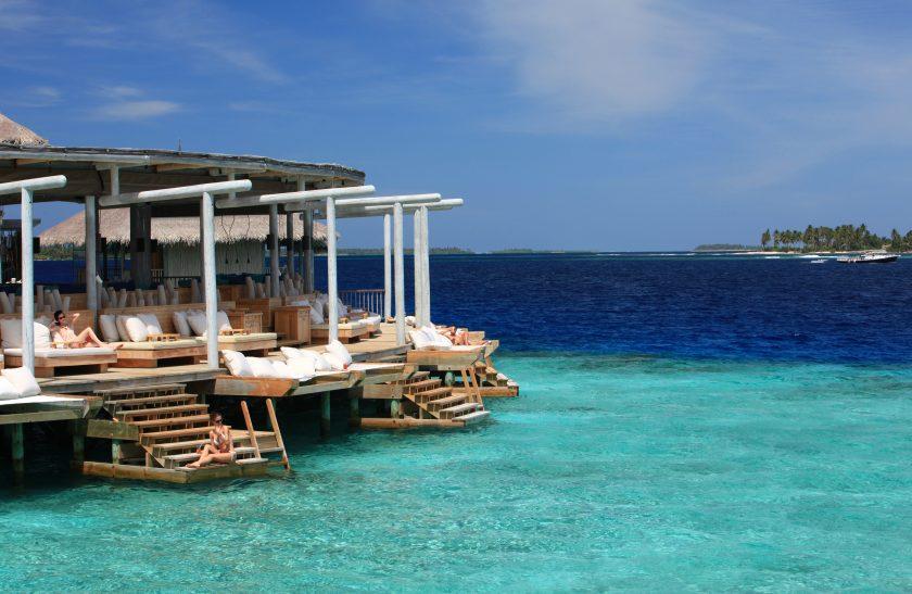 Chill bar at the Maldives