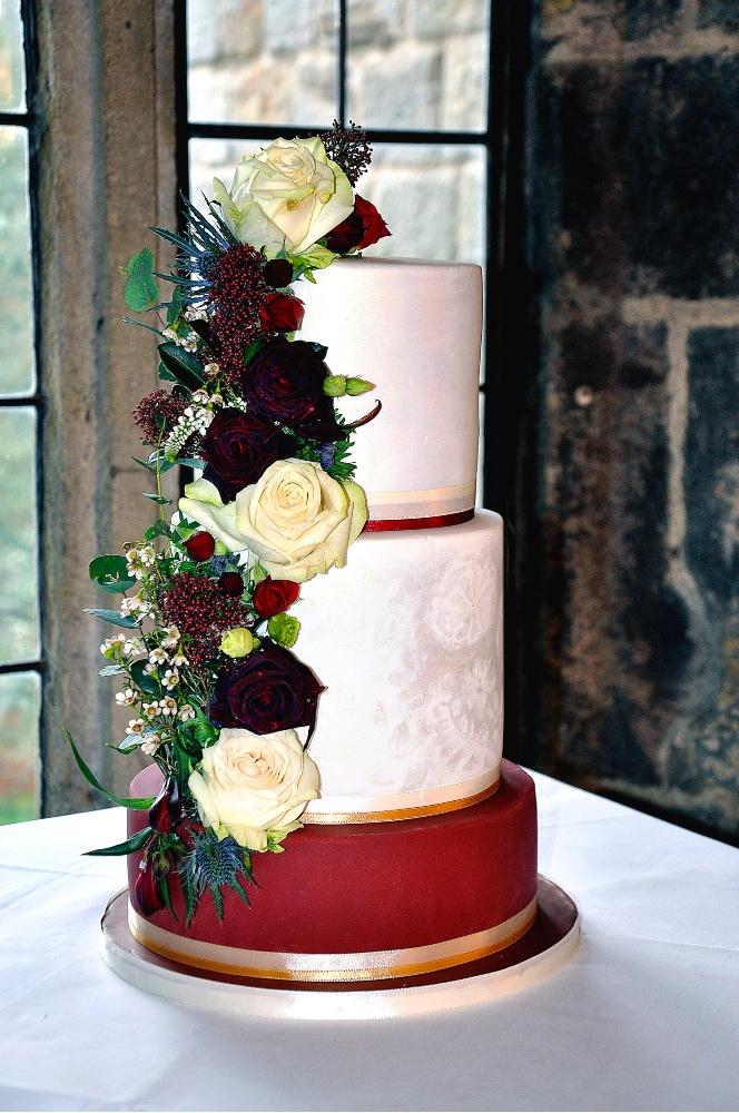 Christmas Floral wedding cake