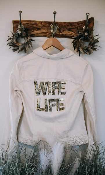 WIFE LIFE Jacket by Love Letters by Lillie. Image by Little's and Loves Photography