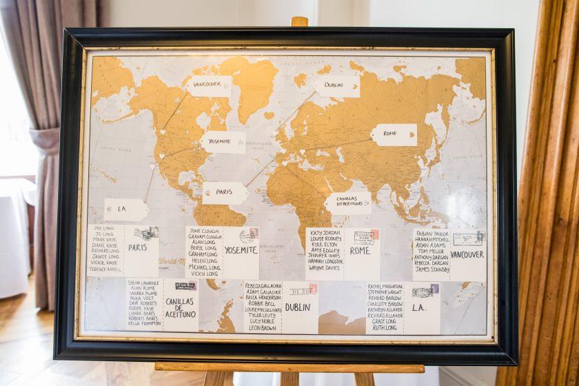 Map-Themed Wedding Stationery