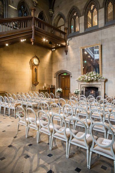 Wedding Ceremony Set Up at Matfen Hall