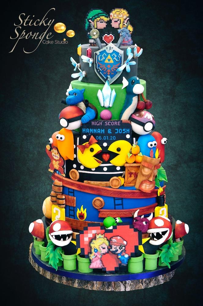 Game wedding cake 1