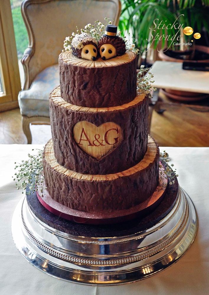 Hedgehog log cake small 2