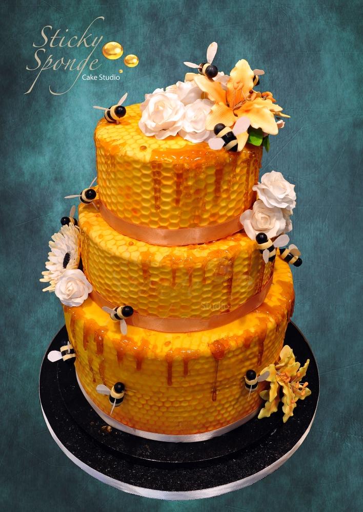 Honey wedding cake