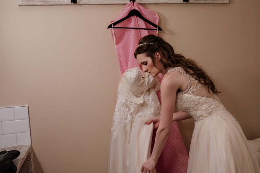 Gown by Ronald Joyce. Image by Chocolate Chip Photography