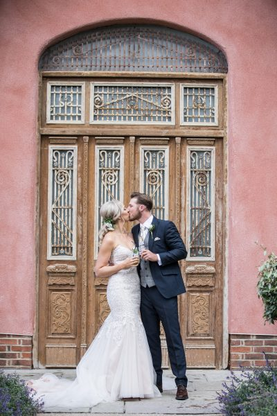 The Bride and Groom Outside of Le Petit Chateau, Image by Lee Scullion Photography
