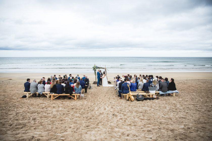 Newton Hall Beach Wedding. Image by Sean Elliott