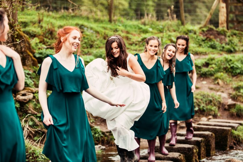 The Bridal Party at The Inn at Whitewell, Photography by Camilla Lucinda Photography