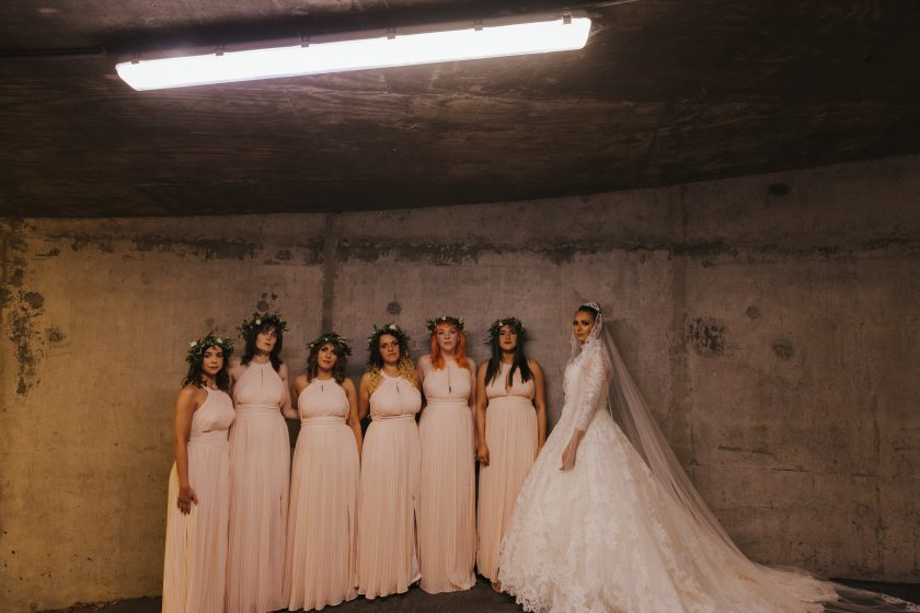 Rebecca and her Bridesmaids. Image by GASP Photography