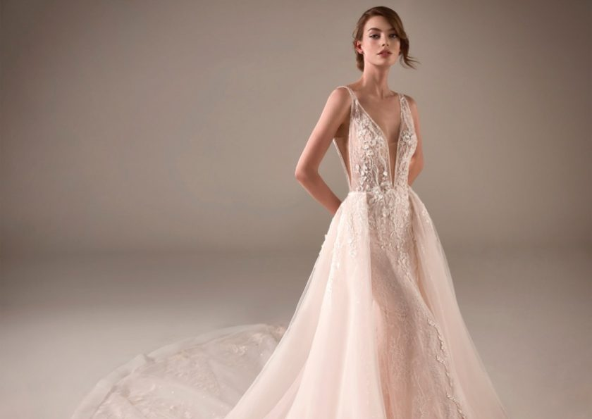 Pronovias Privee, Chimamanda Bridal Gown with Overskirt