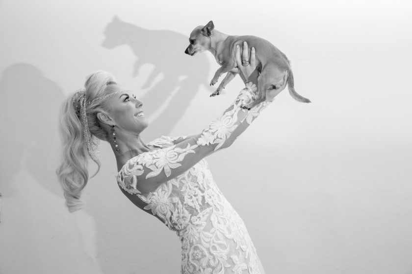 The Bride and her dog, Image by Scott Spock Photography