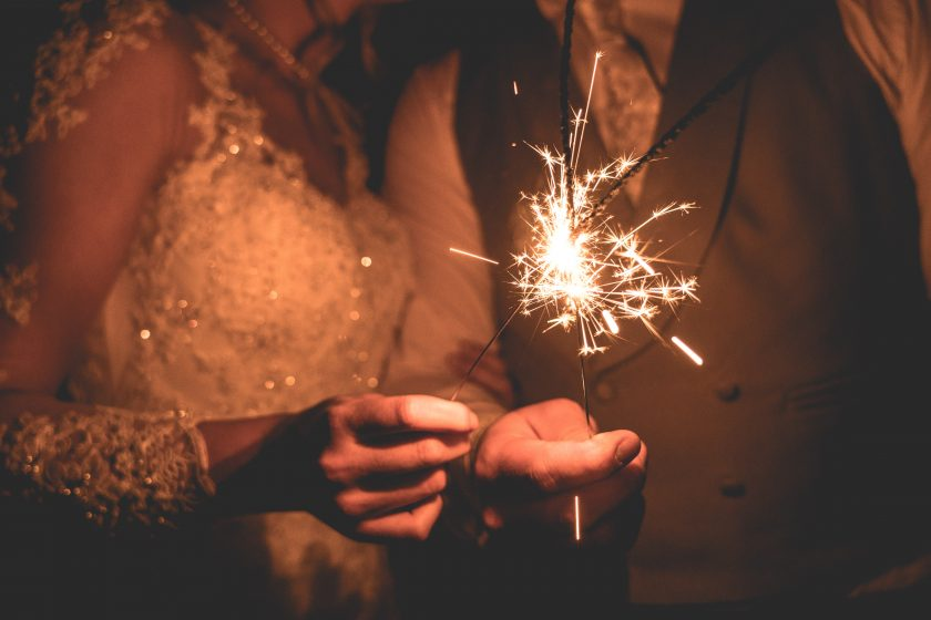 Sparklers at Matfen Hall, Image by Sean Elliott Photography