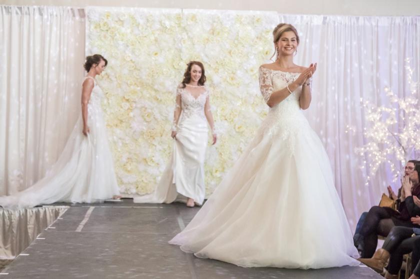 Bridal Models on the Catwalk at Wedding Show
