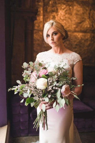 Bridal Bouquets And Floral Hair Accessories