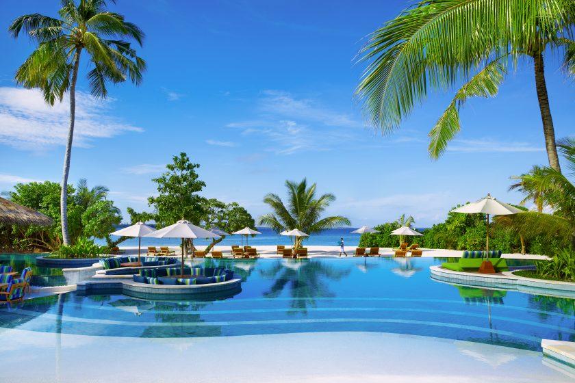 Pool at Six Senses Laamu The Maldives