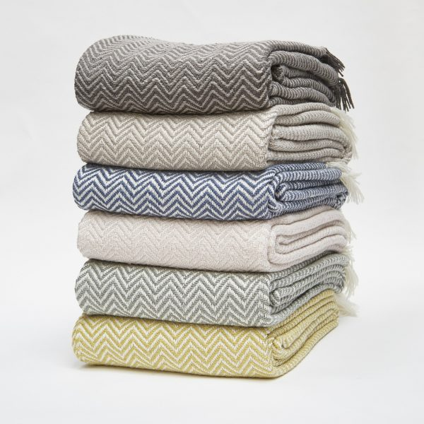 Weaver Green blankets from Prezola
