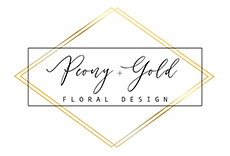 Peony and Gold Floral Design